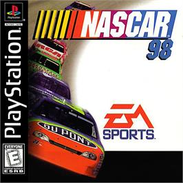Box cover for NASCAR 98 on the Sony Playstation.