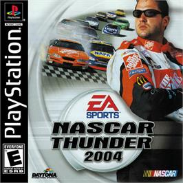 Box cover for NASCAR Thunder 2004 on the Sony Playstation.