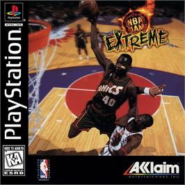 Box cover for NBA Jam Extreme on the Sony Playstation.