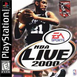 Box cover for NBA Live 2000 on the Sony Playstation.