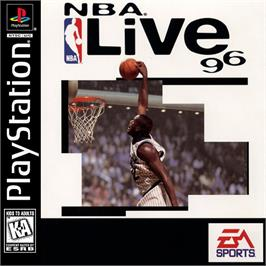 Box cover for NBA Live 96 on the Sony Playstation.