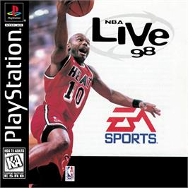 Box cover for NBA Live 98 on the Sony Playstation.