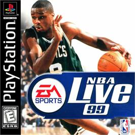 Box cover for NBA Live 99 on the Sony Playstation.