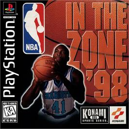 Box cover for NBA in the Zone '98 on the Sony Playstation.