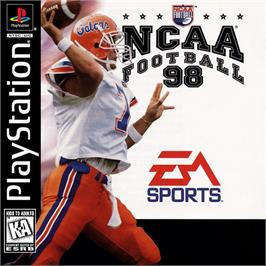 Box cover for NCAA Football 98 on the Sony Playstation.