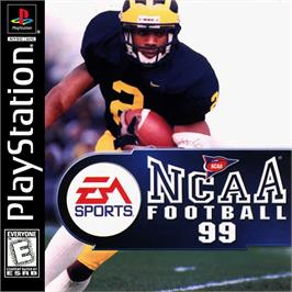 Box cover for NCAA Football 99 on the Sony Playstation.