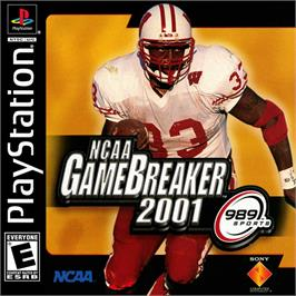 Box cover for NCAA GameBreaker 2001 on the Sony Playstation.