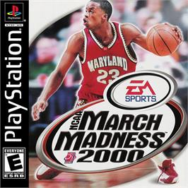 Box cover for NCAA March Madness 2000 on the Sony Playstation.