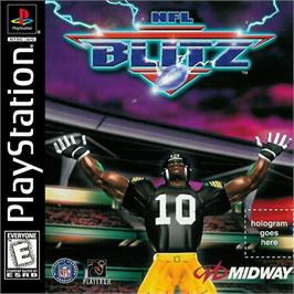 Box cover for NFL Blitz on the Sony Playstation.