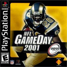 Box cover for NFL GameDay 2001 on the Sony Playstation.