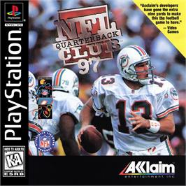 Box cover for NFL Quarterback Club 97 on the Sony Playstation.