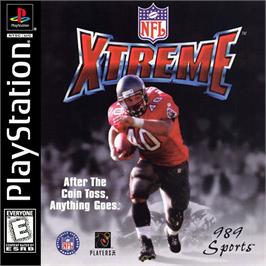 Box cover for NFL Xtreme on the Sony Playstation.