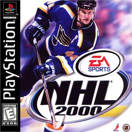 Box cover for NHL 2000 on the Sony Playstation.