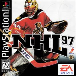 Box cover for NHL 97 on the Sony Playstation.