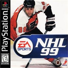 Box cover for NHL 99 on the Sony Playstation.