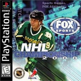Box cover for NHL Championship 2000 on the Sony Playstation.