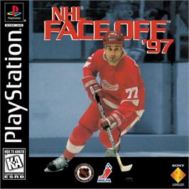 Box cover for NHL FaceOff '97 on the Sony Playstation.