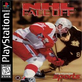 Box cover for NHL FaceOff on the Sony Playstation.