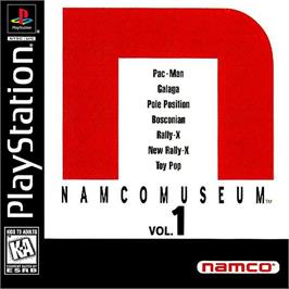 Box cover for Namco Museum Vol. 1 on the Sony Playstation.