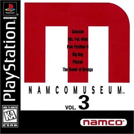 Box cover for Namco Museum Vol. 3 on the Sony Playstation.
