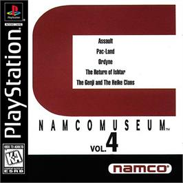 Box cover for Namco Museum Vol. 4 on the Sony Playstation.
