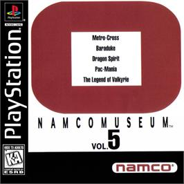 Box cover for Namco Museum Vol. 5 on the Sony Playstation.
