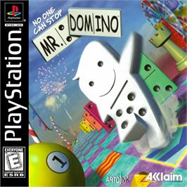Box cover for No One Can Stop Mr. Domino on the Sony Playstation.