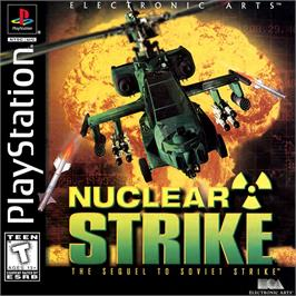 Box cover for Nuclear Strike on the Sony Playstation.