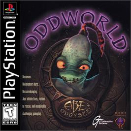 Box cover for Oddworld: Abe's Oddysee on the Sony Playstation.