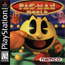 Box cover for Pac-Man World on the Sony Playstation.