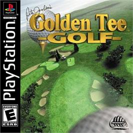 Box cover for Peter Jacobsen's Golden Tee Golf on the Sony Playstation.