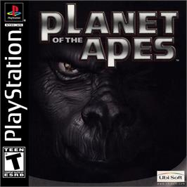 Box cover for Planet of the Apes on the Sony Playstation.