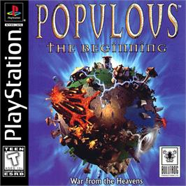 Box cover for Populous: The Beginning on the Sony Playstation.