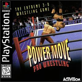 Box cover for Power Move Pro Wrestling on the Sony Playstation.