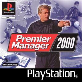 Box cover for Premier Manager 2000 on the Sony Playstation.