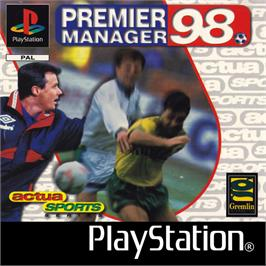 Box cover for Premier Manager 98 on the Sony Playstation.