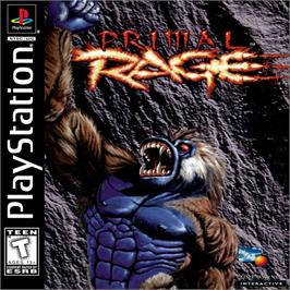 Box cover for Primal Rage on the Sony Playstation.