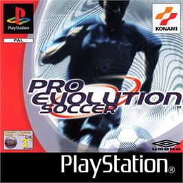 Box cover for Pro Evolution Soccer on the Sony Playstation.