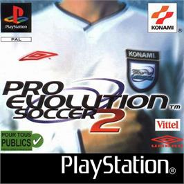 Box cover for Pro Evolution Soccer 2 on the Sony Playstation.