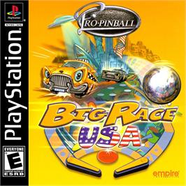 Box cover for Pro Pinball: Big Race USA on the Sony Playstation.