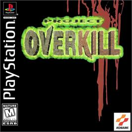 Box cover for Project Overkill on the Sony Playstation.
