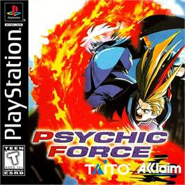 Box cover for Psychic Force on the Sony Playstation.