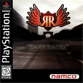 Box cover for Rage Racer on the Sony Playstation.