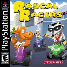 Box cover for Rascal Racers on the Sony Playstation.