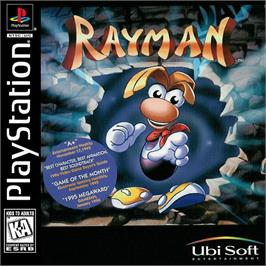 Box cover for Rayman on the Sony Playstation.