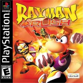 Box cover for Rayman Rush on the Sony Playstation.