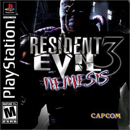 Box cover for Resident Evil 3: Nemesis on the Sony Playstation.
