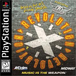 Box cover for Revolution X on the Sony Playstation.