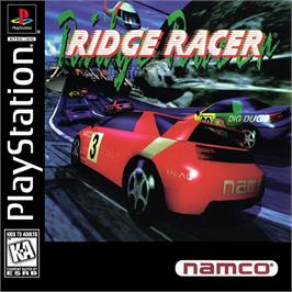 Box cover for Ridge Racer on the Sony Playstation.