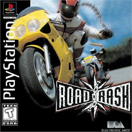 Box cover for Road Rash on the Sony Playstation.